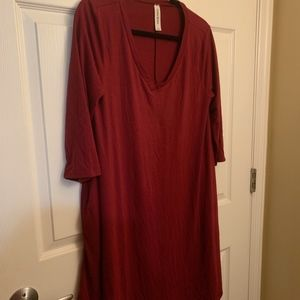 NWOT Burgundy Dress With Pockets!